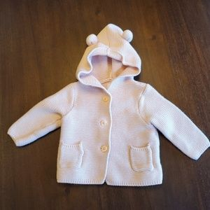 Baby GAP pink critter sweater size 6-12 months